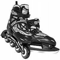 Роликовые коньки SportVida 4 в 1 SV-LG0064 Size 35-38 Black/Grey
