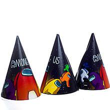 Ковпачки дитячі святкові амонг ас 10 шт