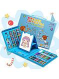 Дитячий набір для малювання та творчості у валізці з мольбертом, набір художника 208 предметів Блакитний, фото 8