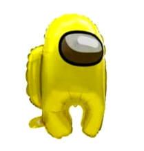 Фольгований повітряна куля амонг ас золотистий 56*44 см