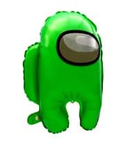 Фольгований повітряна кулька амонг ас зелений 56*44 см