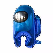 Фольгований повітряна кулька амонг ас синій 56*44 см