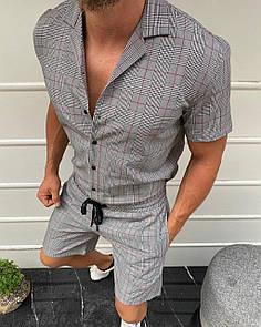 Мужской летний комплект рубашка+шорты
