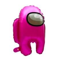 Фольгований повітряна кулька амонг ас рожевий 56*44 см