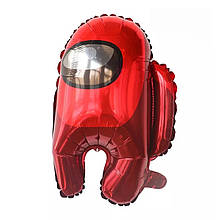 Фольгований повітряна куля амонг ас червоний 56*44 см