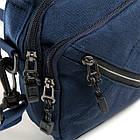 Сумка чоловіча тканинна Lanpad (15*18*7 см) blue, фото 3