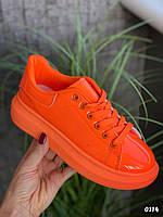 Кеды McQueen оранжевого цвета, кеды/кроссовки на весну, лето, осень