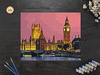 """Картина по номерам """"Пейзаж ночной Лондон"""" 40х50 см"""