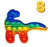 Антистресс игрушка для рук Поп Ит Разноцветная в форме Динозавра 15х12 см №8, игрушка pop it   антистрес (NV)