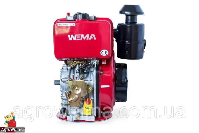 Двигатель дизельный WEIMA WM188FE (ВАЛ ПОД ШЛИЦЫ) 12 Л.С. ЭЛ.СТАРТ