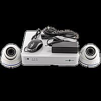 Комплект відеоспостереження GreenVision GV-IP-K-S33/02 1080P