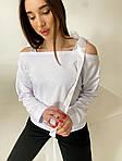 Женский свитшот, турецкая двунить, р-р 42-44; 46-48 (белый), фото 2