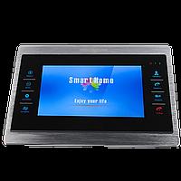 Цветной AHD видеодомофон Green Vision GV-054-AHD-J-VD7SD silver