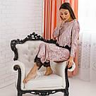 """Піжама жіноча з мармурового велюру """"Шеррі"""". Комплект кофта та штани мерехтливої кольору, фото 6"""