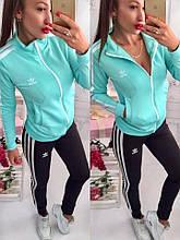 Женский спортивный костюм, дайвинг, р-р С-М; М-Л (ментоловый)