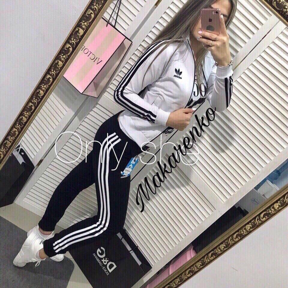 Женский спортивный костюм, дайвинг, р-р С-М; М-Л (белый)