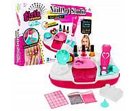 Большой детский игрушечный набор для маникюра и сушки ногтей Лаки, блестки, наклейки, сушка для ногтей детская