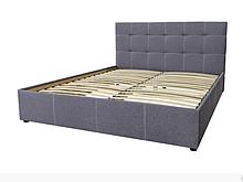 Кровати тканевые с мягким изголовьем 160х200 в мягкой обивке Мелиса Серый