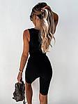 Жіночий костюм, турецький трикотаж - рубчик, р-р 42-44; 44-46 (чорний), фото 4
