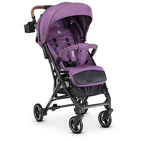 Коляска дитяча ME 1039L IDEA Violet прогулянкова,книжка,колеса 4шт, чохол, льон, фиолетоый