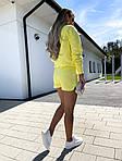 Жіночий костюм, турецька двунить, р-р 42-44; 44-46 (жовтий), фото 4