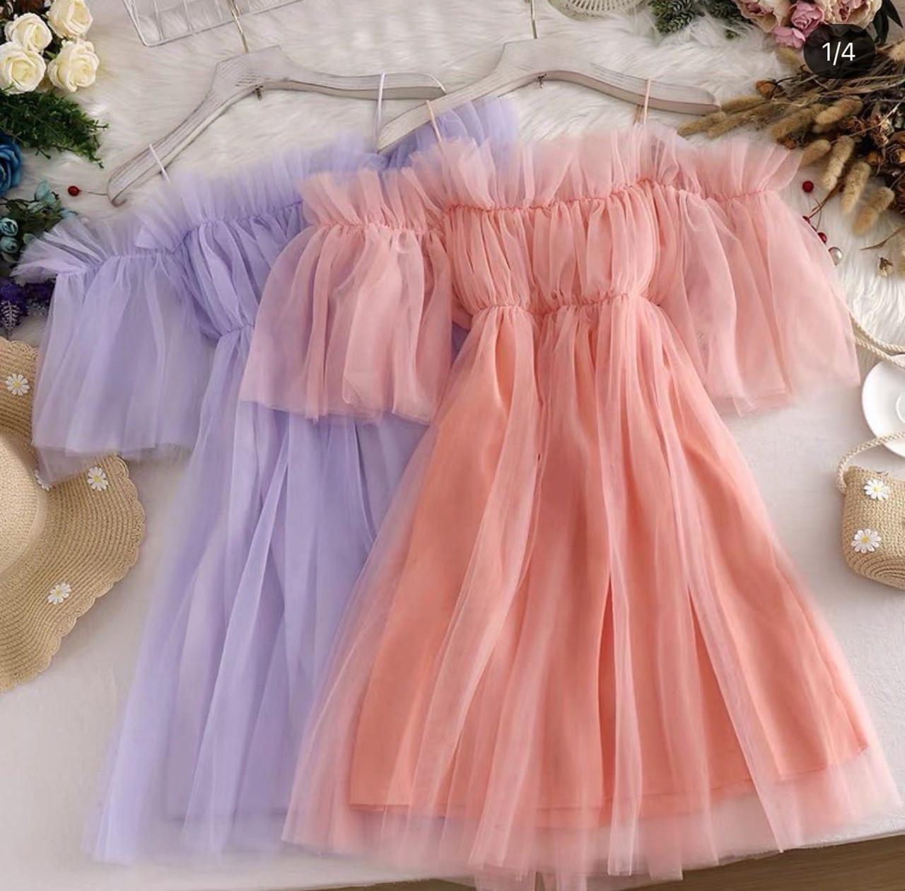 Женское платье, супер софт + фатиновая евро сетка, р-р 42-44; 44-46 (персиковый)