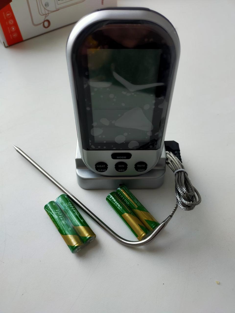 Термометр кулінарний для м'яса зі щупом T-808 цифровий термометр з вибором ступеня підсмажування