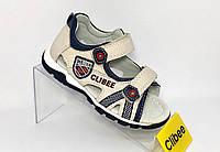 Босоножки детские Clibee F-254 на мальчика бежевые