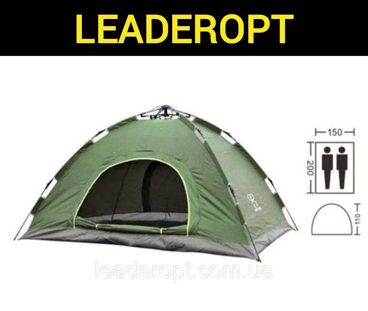 ОПТ Палатка кемпинговая автоматическая 4-х местная 2×2м однослойная 1 вход без тента