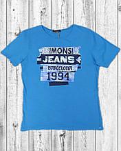 Чоловіча футболка Mons Jeans блакитна, м'ята, сіра, гірчиця біла