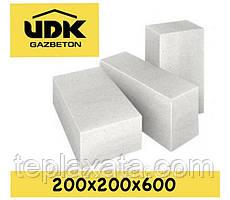 Газобетонний блок UDK SuperBlock D400 (200х200х600) перегородковий