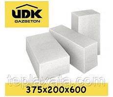 Газобетонний блок UDK SuperBlock D400 (375х200х600) перегородковий