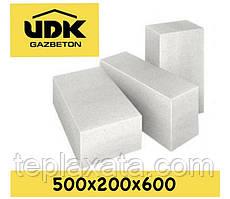 Газобетонний блок UDK SuperBlock D400 (500х200х600) перегородковий