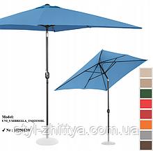 Прямокутна садова парасолька  2 х 3 м з нахилом