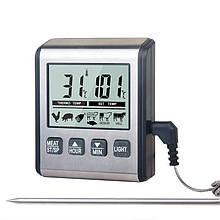 Термометр для мяса KCASA TP-710 (0C до +250C) с таймером, магнитом, подсветкой и программами жарки мяса