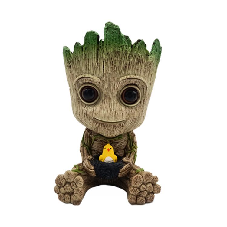 Грут Groot горшочки Малыш с птенцом G7