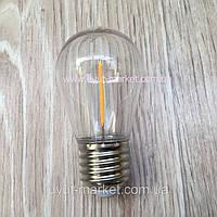 Лампа Эдисона 1Вт Е27 S14, 2700К Filament, для гирлянд