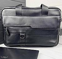 Сумка-портфель мужская кожаная для ноутбука и документов SHVIGEL M8548A