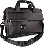 Мужская кожаная сумка-портфель SK N6338 черная