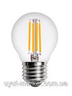 Прозрачная лампочка Filament  4Вт Е27 G45, 2700K