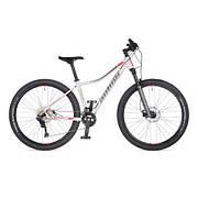 """Велосипед AUTHOR (2021) Traction ASL 27,5"""", рама 18"""", цвет-белый (серебристо-красный) // серебристый"""