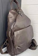 Женский кожаный рюкзак. Молодежный женский рюкзак на каждый день, городской рюкзачок для девушек (98320)