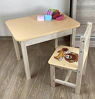 Стол и стульчик детские. Для учебы,рисования,игры. Стол с ящиком и стульчик.
