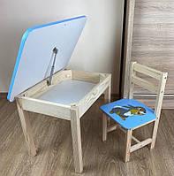 Детские стол и стул. Для игры и учёбы. Стол с ящиком и стульчик.