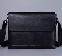 Мужская кожаная сумка-портфель черная Vintage 18778