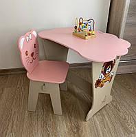 Стол-парта с крышкой и стульчик для детей
