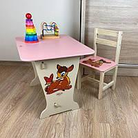 Стол-парта классическая и стульчик для детей. Отличный подарок!