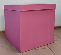 Коробка-сюрприз рожева 50х50х50
