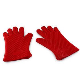Перчатки-прохватки силиконовые жаропрочные Красные