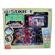 Набор фигурок Стик Бот для анимационного творчества StikBot со штативом для съёмки человечек и собака